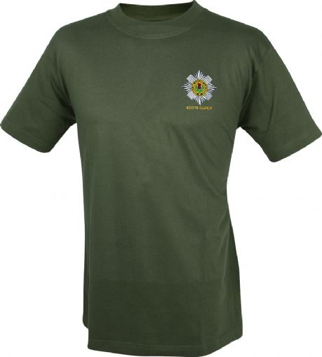 Scots Guards cotton t-shirts with embroidered cap badge.